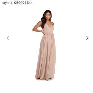 NEVER WORN nude bridesmaid's dress